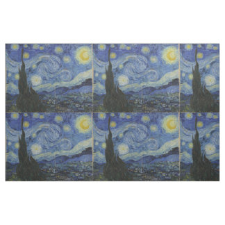 Starry Night Vincent van Gogh Tiled Fabric