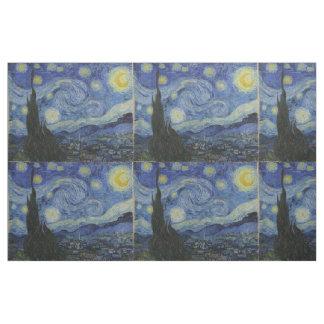 Starry Night Vincent van Gogh Tiled Fabric