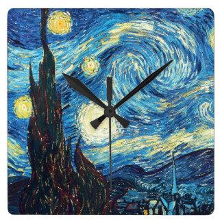 Starry Night - Vincent Van Gogh Wall Clock