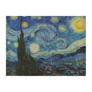 Starry Night | Vincent Van Gogh Wood Print