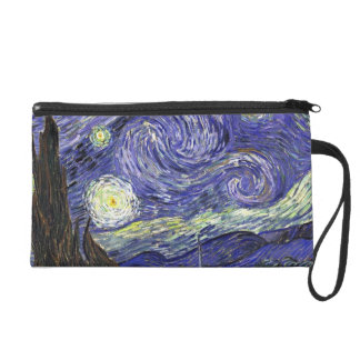 Starry Night, Vincent Van Gogh. Wristlet Clutches