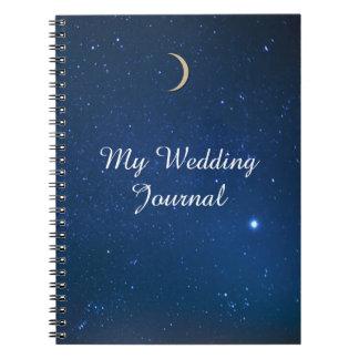 Starry Night Wedding Journal Spiral Notebook