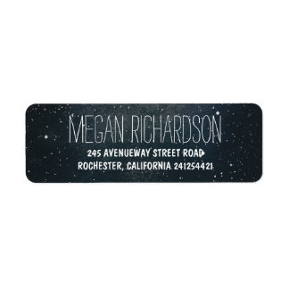Starry night wedding return address label