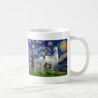 Starry Night with Two Llamas Coffee Mug