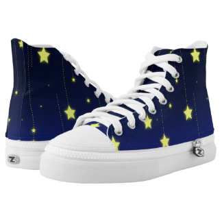 Starry Night zipz high top shoes