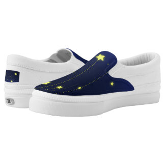Starry Night Zipz Slip On Shoes Printed Shoes