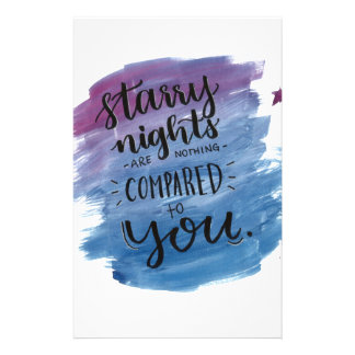 Starry Nights are Nothing Compared to You Stationery