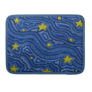 Starry Nights Rickshaw Flap Sleeve For Macbook Pro