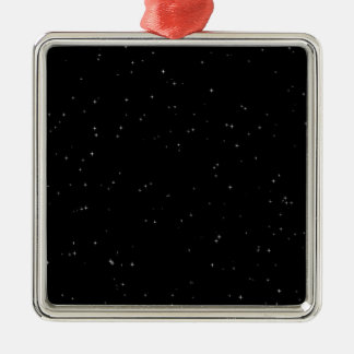 Starry nights Silver-Colored square decoration