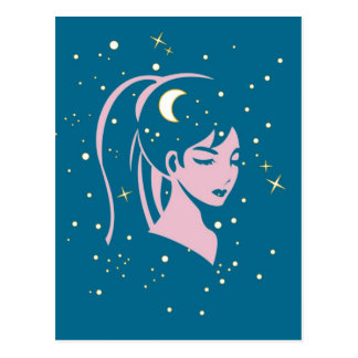 Starry nite postcard