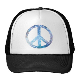 Starry Peace Sign Trucker Hats