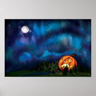 Starry Pumpkin Nights Poster