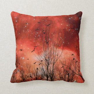 Starry Red Night Cushion