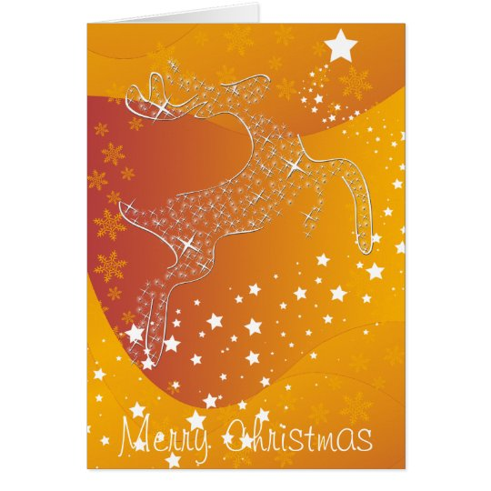 Starry Reindeer Card