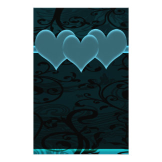 Starry Romance Blue Set Stationery Design
