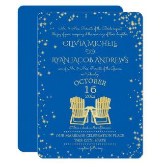 Starry Sky Adirondack Chairs Beach Wedding 11 Cm X 16 Cm Invitation Card