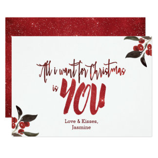 Starry Sky All I Want For Christmas Is You Holiday Card