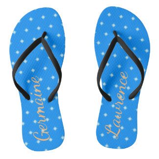 Starry Sky Customizable Flip Flops