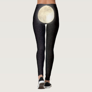 Starry Sky Full Moon Butt Leggings