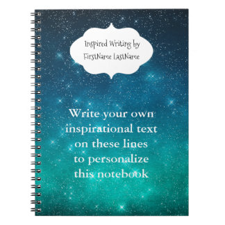Starry Sky Inspirational Writing Spiral Notebook