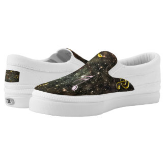 Starry Sky Musical Notes Music Clef Slip-On  Shoes Printed Shoes