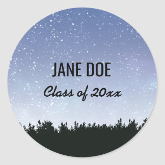 Starry Sky Personalized Graduation Stickers