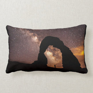 Starry sky pillow, stargazing, milky way, universe lumbar cushion