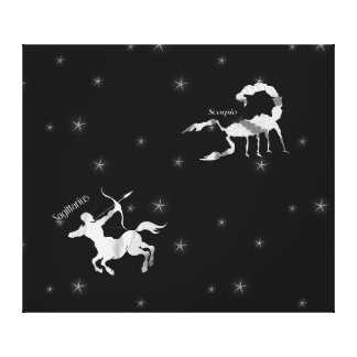 Starry Sky Scorpio and Sagittarius Canvas Print