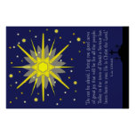 starry sky with luke 2:10-11 poster