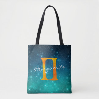 Starry Sky Zodiac Sun Sign Gemini Tote Bag