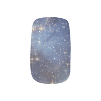 Starry Space Blue Nails Minx Nail Art
