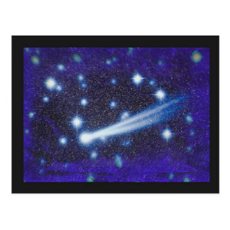 Starry Space Sky & Asteroid Postcard
