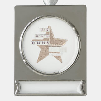Starry Star Banner Ornament Silver Plated Banner Ornament
