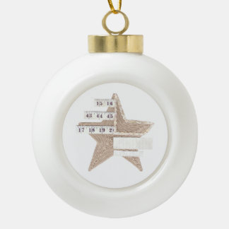 Starry Star Bauble Ceramic Ball Decoration