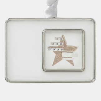 Starry Star Framed Ornament Silver Plated Framed Ornament