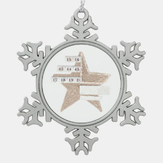Starry Star Snowflake Ornament