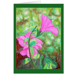 Starry, starry morning glory watercolor card