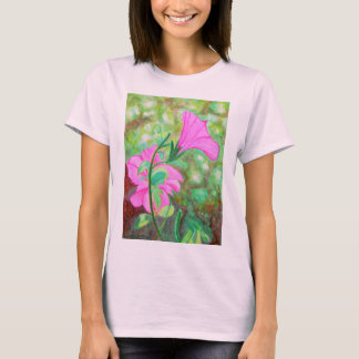 Starry, starry morning glory watercolor T-Shirt