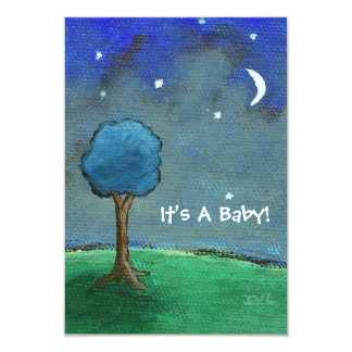 Starry Starry Night It's A Baby! From Original Art Card