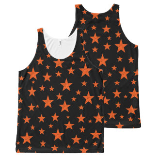 Starry Starry Night Orange All-Over Print Singlet