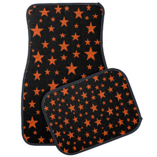 Starry Starry Night Orange Car Mat
