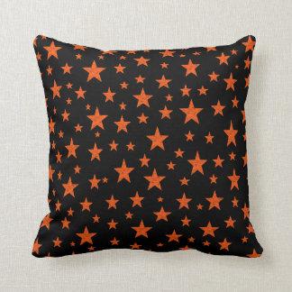 Starry Starry Night Orange Cushion