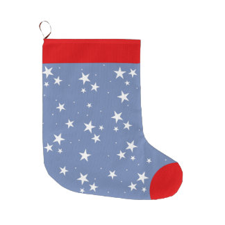 Starry Starry Nite Personalised Santa Clause Large Christmas Stocking
