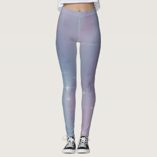 Starry Teal and Mauve Leggings