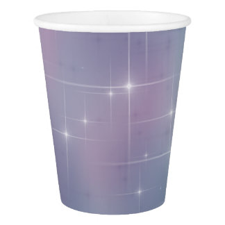 Starry Teal and Mauve Paper Cup