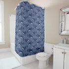Starry Whale Shark (Dark) Shower Curtain