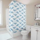 Starry Whale Shark (Light) Shower Curtain