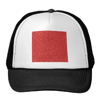 STARS12 RED WHITE LIGHT GREY GRAY STARS SHAPES PAT HATS
