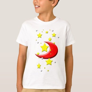 Stars & a Red Moon T-Shirt