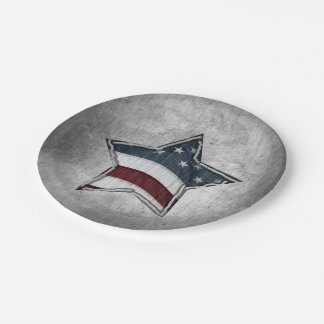 Stars and Bars Paper Plates
